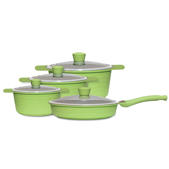 12 PCE Ceramic Non-Stick Cookware Set-Vivo